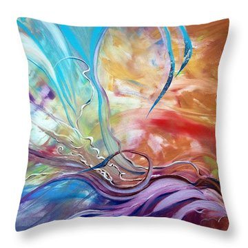 Power Of Now Throw Pillow by Jan VonBokel