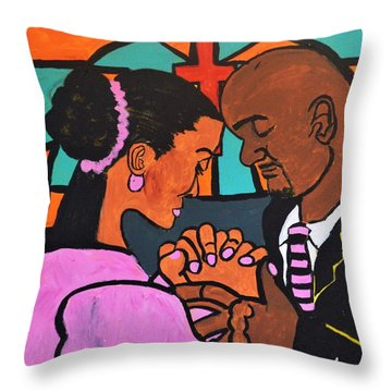 Throw Pillow featuring the painting Power Of Prayer by Christopher Farris