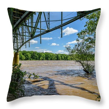 Power Of The James Throw Pillow
