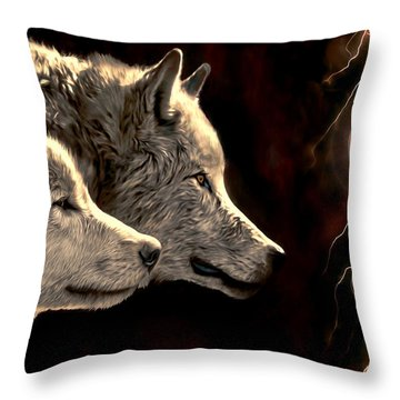 Power Of The Moon Throw Pillow