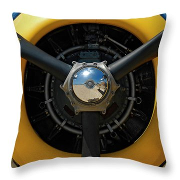 Power On The Wing Throw Pillow