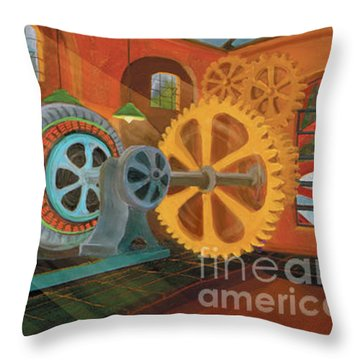 Power Plant Turbines Throw Pillow