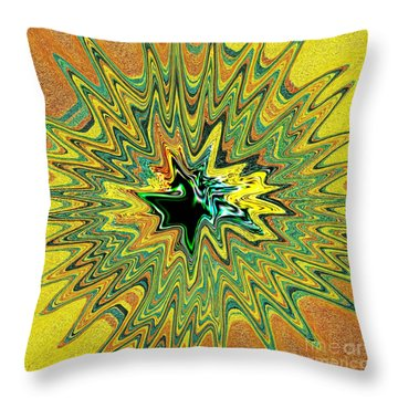 Power Star Abstract Throw Pillow