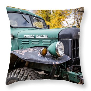 Power Wagon Throw Pillow