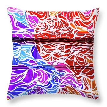 Power Waves Throw Pillow