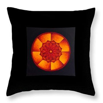 Power Wheel Throw Pillow