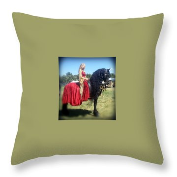 Powerful Beauty Throw Pillow