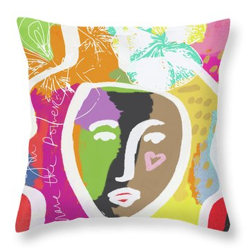 Powerful Girl- Art By Linda Woods Throw Pillow