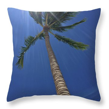 Powerful Palm Throw Pillow