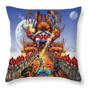 Powerless To Power Throw Pillow