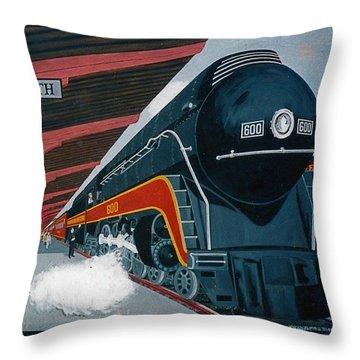 Powhattan Arrow At Portsmouth Throw Pillow by Frank Hunter