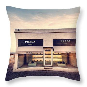 Prada Store Throw Pillow