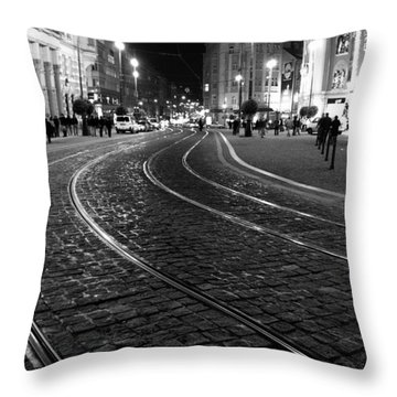 Praga At Night Throw Pillow