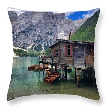 Pragser Wildsee View Throw Pillow