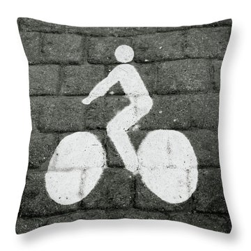 Prague Bike Lane-  By Linda Woods Throw Pillow