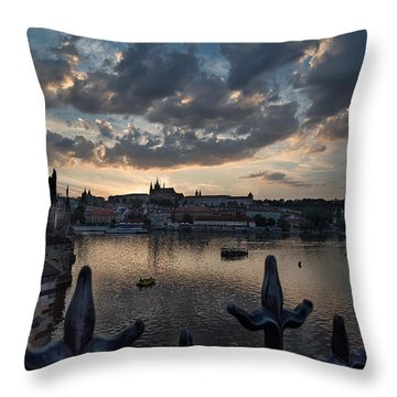 Prague Castle Throw Pillow by James David Phenicie
