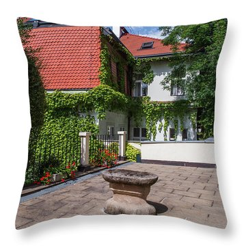 Throw Pillow featuring the photograph Prague Courtyards by Jenny Rainbow