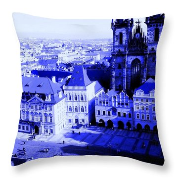 Throw Pillow featuring the photograph Prague Cz by Michelle Dallocchio