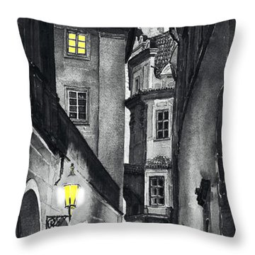 Prague Love Story Throw Pillow