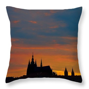 Prague Sunset Throw Pillow