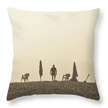 Praia Da Figueira Portugal Throw Pillow by Marek Stepan