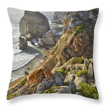 Throw Pillow featuring the photograph Praia Da Ursa  by Marek Stepan