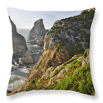 Throw Pillow featuring the photograph Praia Da Ursa Portugal by Marek Stepan