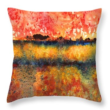 Praire Thunderstorm Throw Pillow