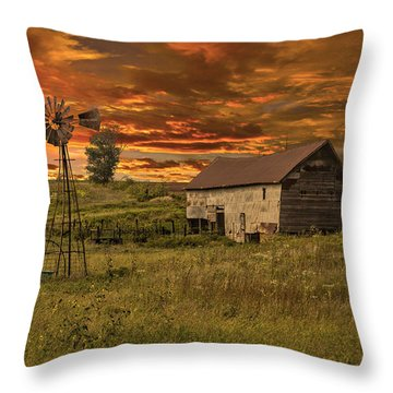 Prairie Barn Throw Pillow