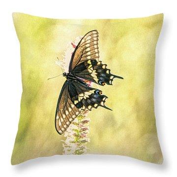 Prairie Butterfly 2 Throw Pillow