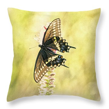 Prairie Butterfly 2 Throw Pillow