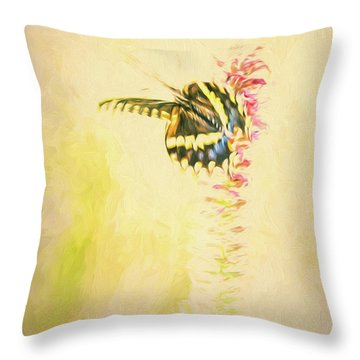Prairie Butterfly 3 Throw Pillow