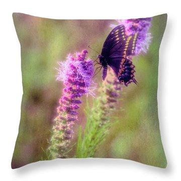 Prairie Butterfly Throw Pillow