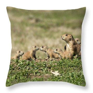 Prairie Dog Family 7270 Throw Pillow