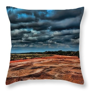 Prairie Dog Town Fork Red River Throw Pillow by Diana Mary Sharpton