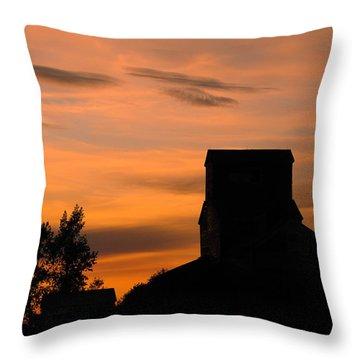 Prairie Dusk Throw Pillow by Tony Beck