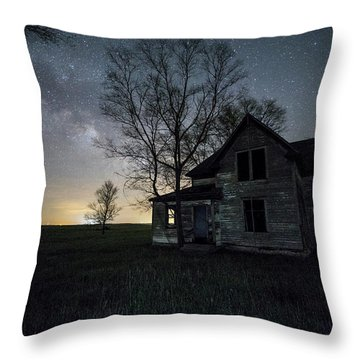 Throw Pillow featuring the photograph Prairie Gold And Milky Way by Aaron J Groen