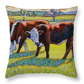 Prairie Lunch Throw Pillow