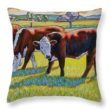 Prairie Lunch Throw Pillow