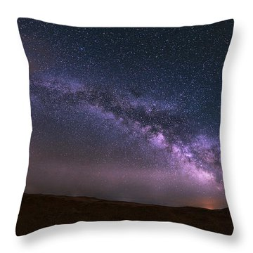 Prairie Night's Glitter Throw Pillow