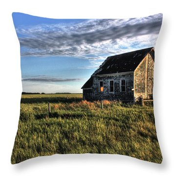Prairie One Room School Throw Pillow