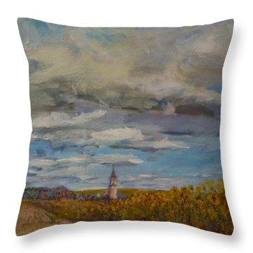 Prairie Town Throw Pillow