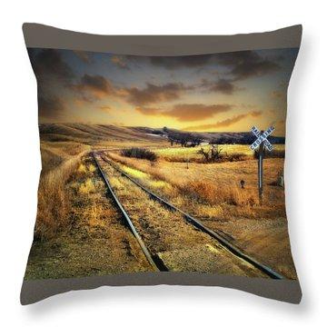 Prairie Tracks Throw Pillow