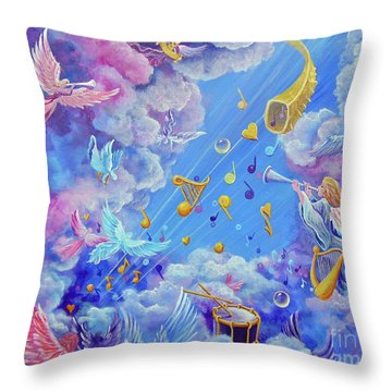 Praise Him From The Heavens Throw Pillow