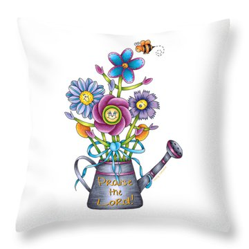 Praise The Lord Throw Pillow by Tracy Campbell