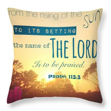 From The Rising Of The Sun Throw Pillow
