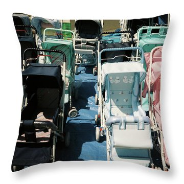 Pram Lot Throw Pillow