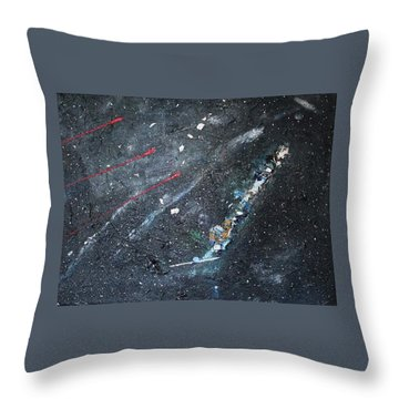 Throw Pillow featuring the painting Prana by Michael Lucarelli