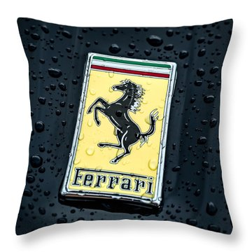 Throw Pillow featuring the digital art Prancing Stallion by Douglas Pittman