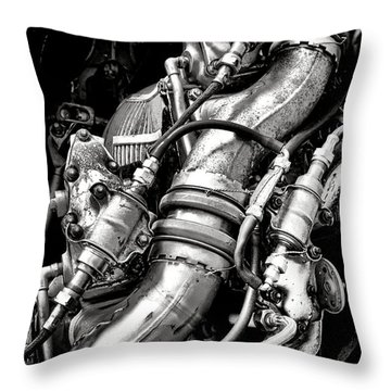 Pratt And Whitney Engine Throw Pillow
